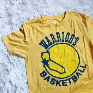 OAKLAND WARRIORS yellow+blue basketball team top